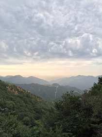 August Sky while on top of Great Wall of China  IPhone  hdr unedited