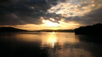 August sunset on Lake Achigan Quebec x