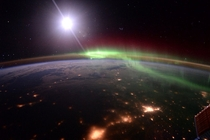 Aurora as seen from the ISS