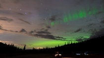 Aurora borealis and Ursa Major near Big White BC