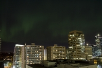 Aurora Borealis in Calgary Oct st  X-Post from rcalgary