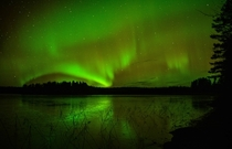 Aurora Borealis on a cold Swedish autumn night