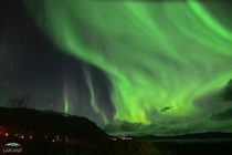 Aurora Borealis over Kingdom of Sweden photographed by Chad Blakley in September