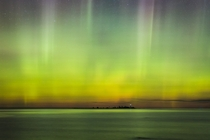 Aurora Borealis over Lake Huron