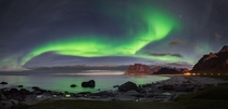 Aurora Borealis over Lofoten Norway  Photo by amstermarc