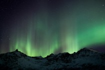 Aurora borealis seen from Kvaly Norway