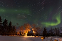 Aurora Borealis Star Trails