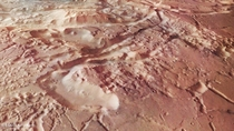 Aurorae Chaos a large area of chaotic terrain located in the Margaritifer Terra region on Mars Ground resolution is approximately  mpixel