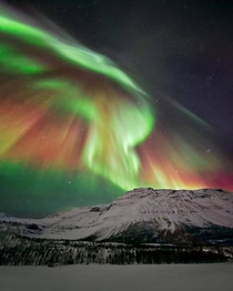 Auroral beauty over northern Norway Credit Wayne Pinkston