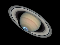 Auroras on Saturn captured by the Hubble Telescope  x