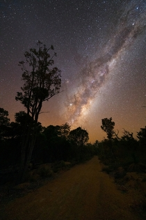 Australia has some of the darkest night skies and only takes  minutes of driving from a city with  million people to get into insane Milky Way conditions for stargazing