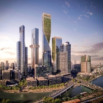 Australias tallest building the Green Spine got approval today to be built in Melbourne