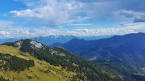 Austrian Alps as seem from Bavaria