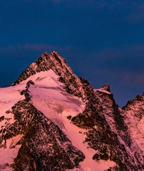 Austrias highest mountain the Groglockner during sunrise - will never forget this light