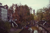 Autumn at the Oudegracht in Utrecht the Netherlands