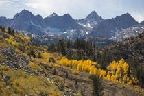 Autumn colors and mountains of Bishop California