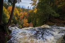 Autumn Colors at Laughing Whitefish Falls - Michigan