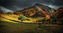 Autumn colors over Somiedo Natural Park Asturias Spain