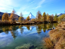 Autumn hiking in Zermatt Switzerland