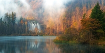 Autumn in Plitvice Lakes National Park Croatia  Photo by Jokin Romero xpost from rCroatiaPics