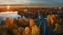Autumn in Saint Petersburg River Russia