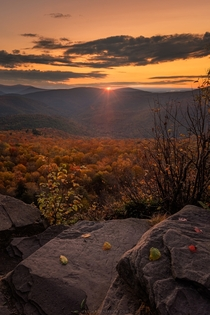 Autumn in the Catskills from Giants Ledge New York