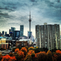 Autumn in Toronto from the top floor of the Art Gallery of Ontario