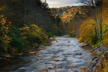 Autumn on a nice river in the Allegheny Mountains