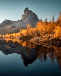 Autumn postcard from the Dolomites Italy