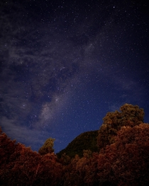 Autumn sky over Franz Josef New Zealand