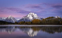 Autumn Sunrise at Oxbow Bend Grand Tetons National Park