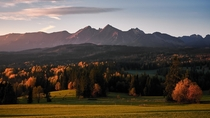 Autumn sunrise High Tatras Mountains in Slovakia Shoot from Poland side  IGsamuel_stolicny