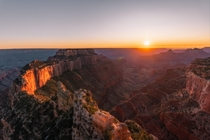Autumn sunset over Cape Royal Grand Canyon