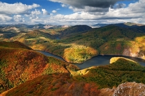Autumn views from Sivec peak Slovakia are wonderful L Majersky