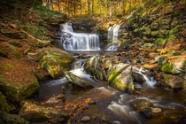 Autumn Waterfall in PA - Ricketts Glenn State Park