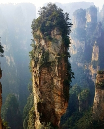 Avatar Mountains - Zhangjiajie China - Also known as inspiration for Pandora PS The echo here is incredible