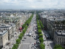 Avenue des Champs-lyses from the Arc de Triomphe Paris