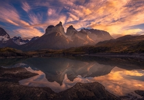 Awakening Torres Sunrise at Torres del Paine Patagonia Chile  Photo by Artur Stanisz
