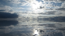 Awesome reflection of clouds at Salar de Uyuni Bolivia