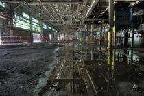 Awesome Reflections Inside the Foundry Area of The Abandoned GM Powertrain Plant in St Catharines Ontario