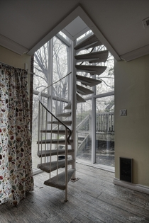 Awesome Spiral Staircase Inside an Abandoned  Mansion in Ontario Canada