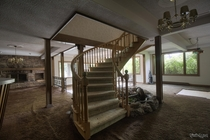 Awesome Staircase amp Brown Shag Carpet Inside an Abandoned Custom Mansion in Ontario