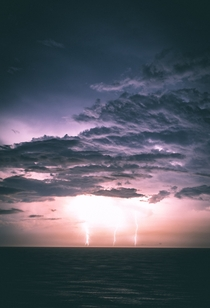 Awesome thunder storm in the Caribbean By Casey Horner
