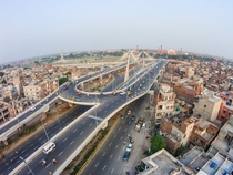 Azadi Interchange - A cable-stayed overhead roundabout in Lahore  By Shahid Saleem