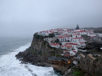 Azenhas do Mar Portugal on a rainy day
