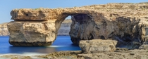 Azure Window Malta For scale theres someone in a blue jacket on the far right