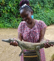 Baby Crocodile In Mamba Village Nairobi