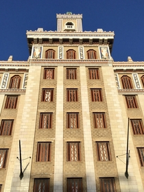 Bacardi Building - Art Deco masterpiece in Havana Cuba completed in  and designed by Esteban Rodriguez-Castells and Rafael Fernandez Ruenes OC