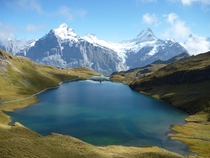 Bachalpsee Lake Swiss Alps in   OC