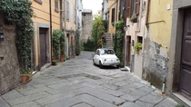 Back alley of Viterbo Italy